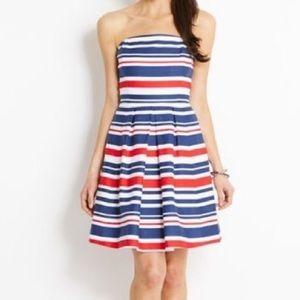 Vineyard Vines Red White and Blue Strapless Dress
